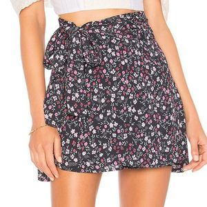 NWT Lovers + friends Gina Floral Wrap Skirt Box 12